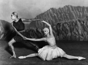 Alexandrova Danilova and Serge Lifar in Ballet Russes production of Apollon musagète, 1927